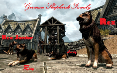 German Shepherds Family