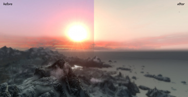 4E sunset with ENB