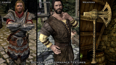 Bethesda Performance Textures - Armor - Clothes - Weapons