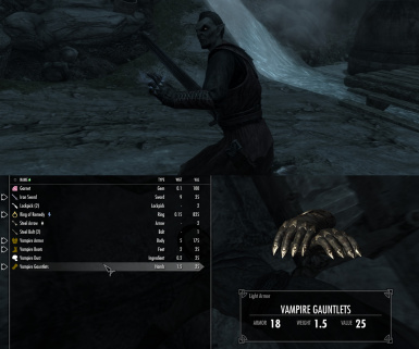 Vampires have a chance to spawn with gauntlets
