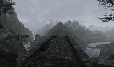 Foggy weather in the reach