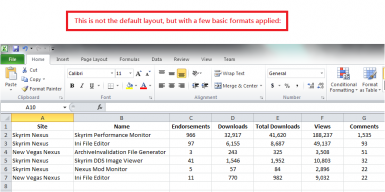 Output to Excel