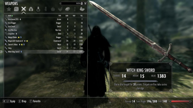 Nazgul Witch King Sword