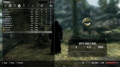 Nazgul Witch King Ring
