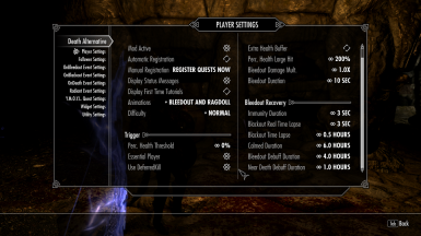My player settings