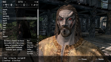 how to change ur race in skyrim