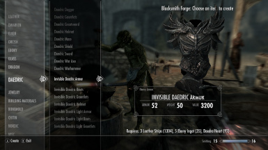 Invisible Armor Crafted at Skyrim Nexus - mods and community