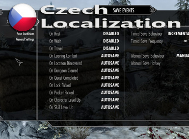 AutoSave Manager - Czech Localization