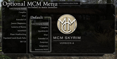 Optional MCM Menu