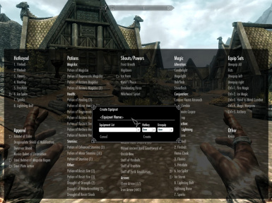 Categorized Favorites Menu v0_1_8 Equipset Creation Dialog