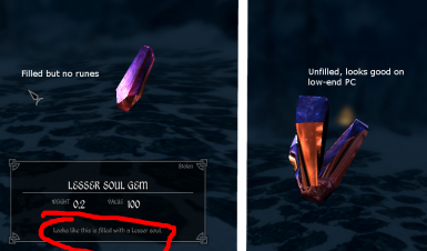 Filled No runes -left- Not filled -right-
