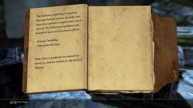 Special Recipe Book - teachs certain ingredient effects