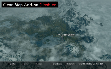 Clear Map Add-on Disabled