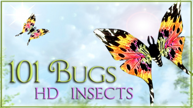 83Willows 101BugsHD Butterfly Dragonfly Luna-Moth Torchbug