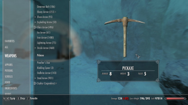 Lighter Pickaxes and Woodcutter Axes