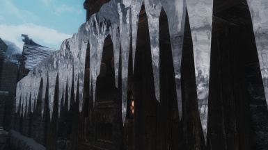 Windhelm roof icicle
