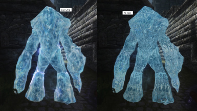 Frost Atronach before and after
