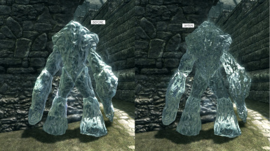 No ENB - Before and after Frost Atronach