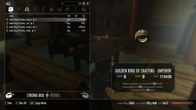 Golden Rings Crafting at Skyrim Nexus mods and munity