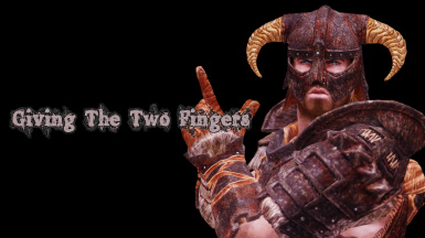 Giving The Two Fingers