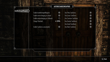 Auto Recharge Weapons at Skyrim Nexus - mods and community