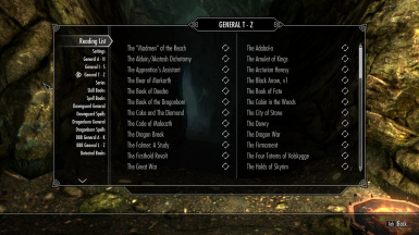 Reading List at Skyrim Nexus - mods and community