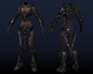 Daedric female armor replacer