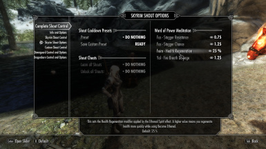 CSC Skyrim Shout Options