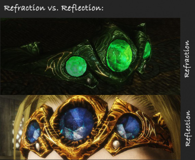 Refraction vs Reflection