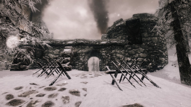 View of Dunmeth Pass Gate from Morrowind