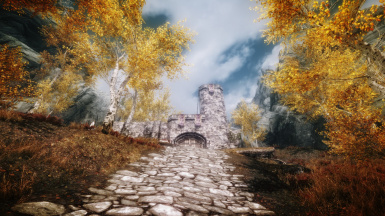 Approaching Silgrad Pass Gate from Morrowind