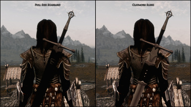 Scabbard and Sling Comparison