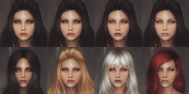 Makeup and hair colors
