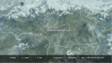 Advanced Camp map location