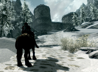 Pale Pass Border Fort from the Skyrim side