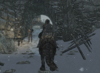 Entering Dunmeth Border Fort from the Skyrim side