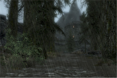Approach to Elinhir Pass Border Fort from Skyrim side