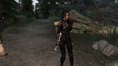 Arissa in shrouded armor replacer from Arisse Ch 1