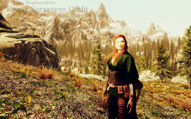 theRoadstrokers Rogue Sorceress Outfit Green Retexture