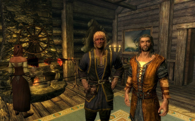 Talsgar the Wanderer with fellow Bard Janzen