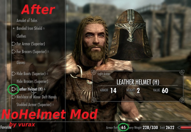After equipping helmet