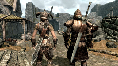 Ancient Nord and Silver Greatswords