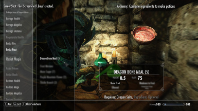 Dragon Alchemy - Dragon Bone Meal - Alchemy Table