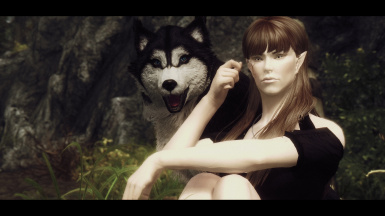 Aelyn with Doge