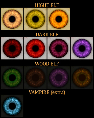 improved human and elf eyes at skyrim nexus mods and community