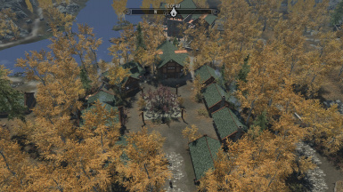 Aerial view of Village with Sexy Riften