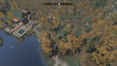 Aerial view of Village and Keep