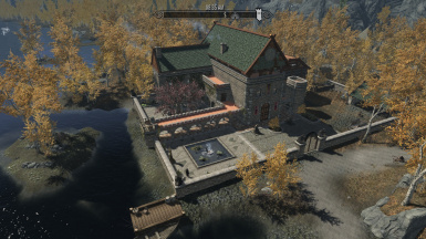 Aerial view Heartwood Keep with Sexy Riften