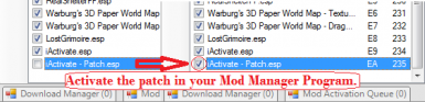 Step 8   Activate the patch in your Mod Manager