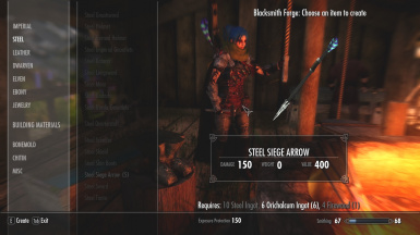 Steel Siege Arrow Crafting